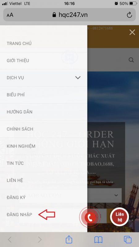 Cách Đặt Hàng Taobao bằng điện thoại