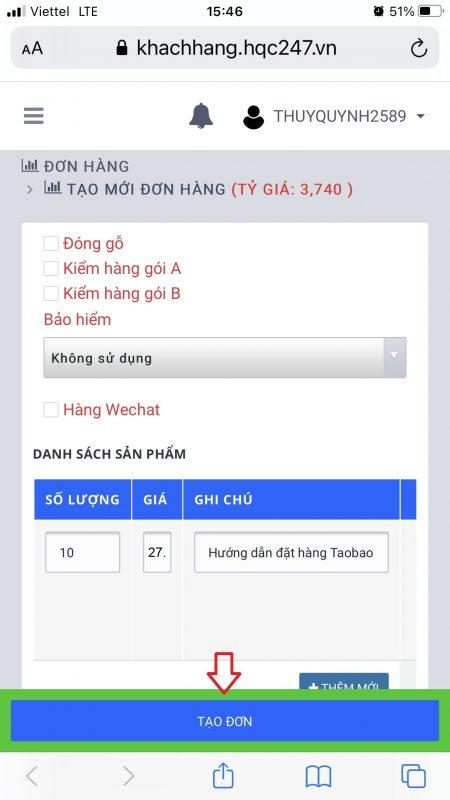 Cách đặt hàng Taobao nhanh chóng