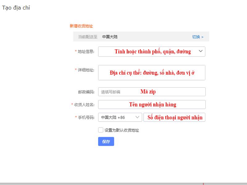 huong dan quy trinh order taobao ve ha noi tai hqc247 5