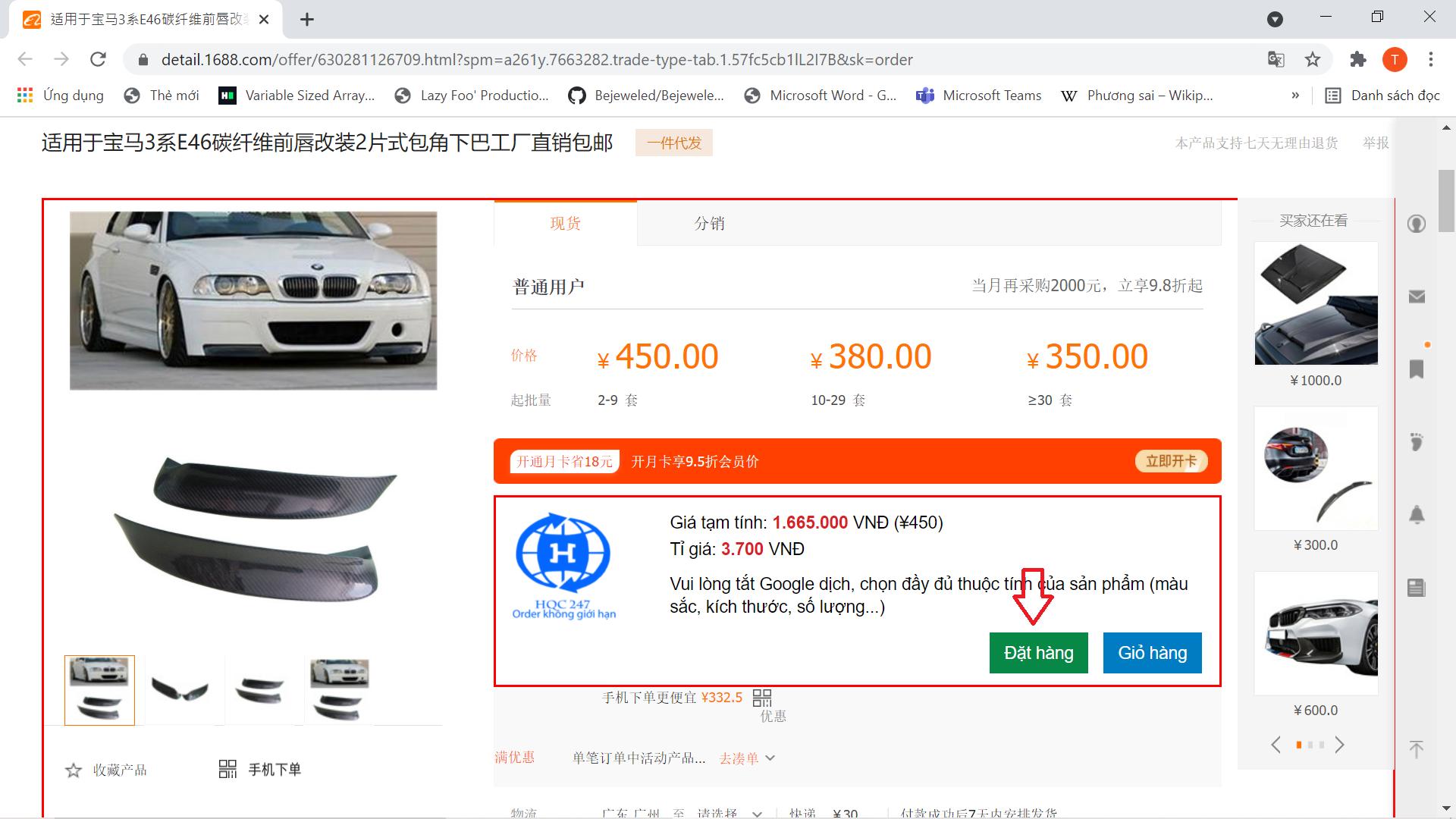 Cách nhập phụ tùng ô tô giá rẻ